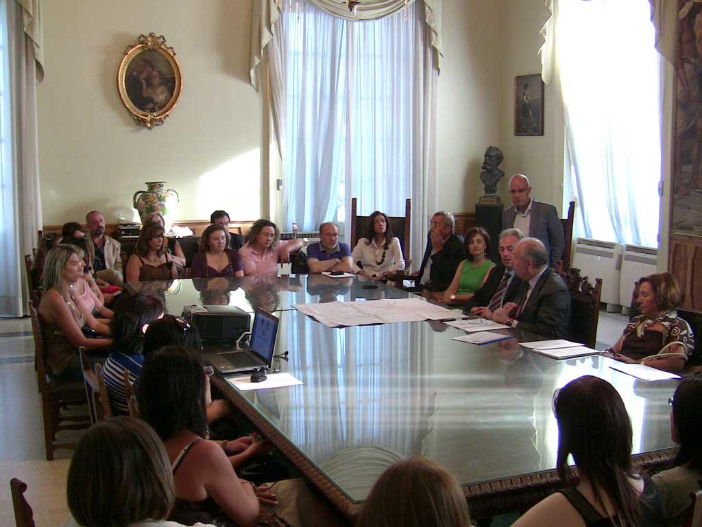 L'incontro in Sala Giunta con il sindaco Stancanelli