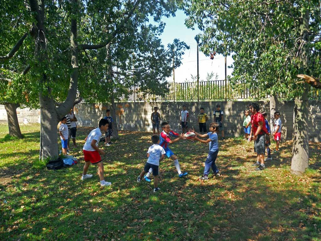 Progetto Scuola Estate con i Briganti, rugby educativo a Librino