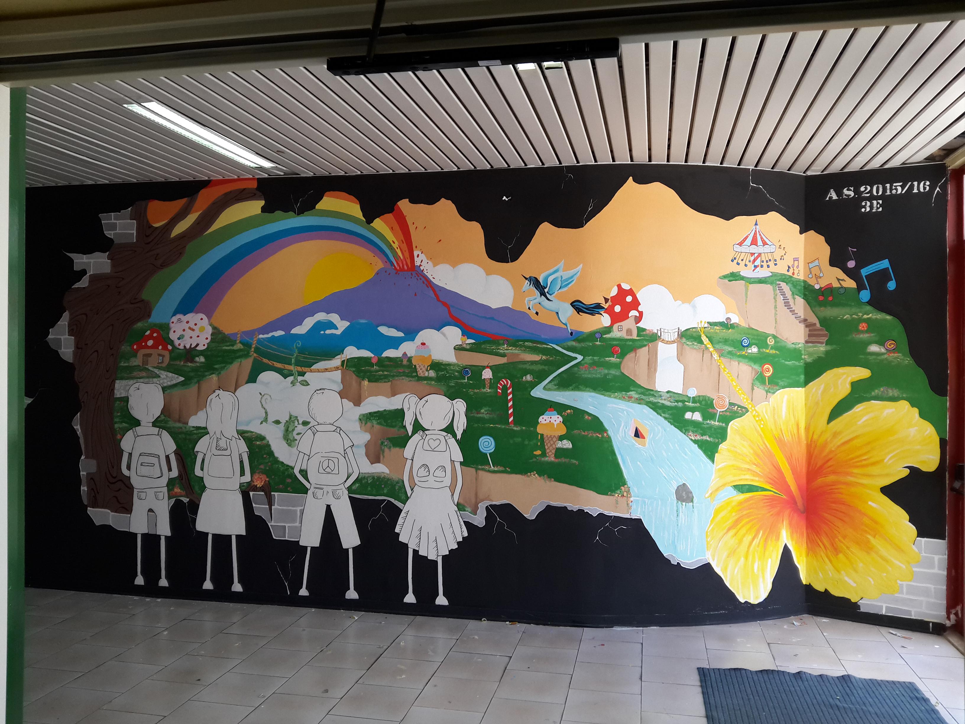 Il murales realizzato al Viale Nitta