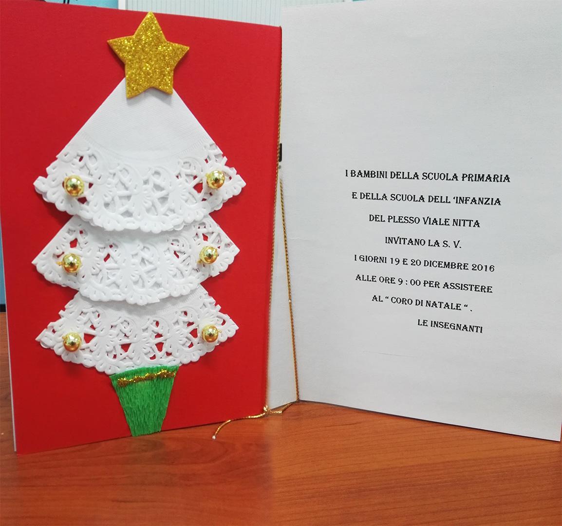 Invito di Natale 2016 Scuola dell'Infanzi e della Scuola Primaria