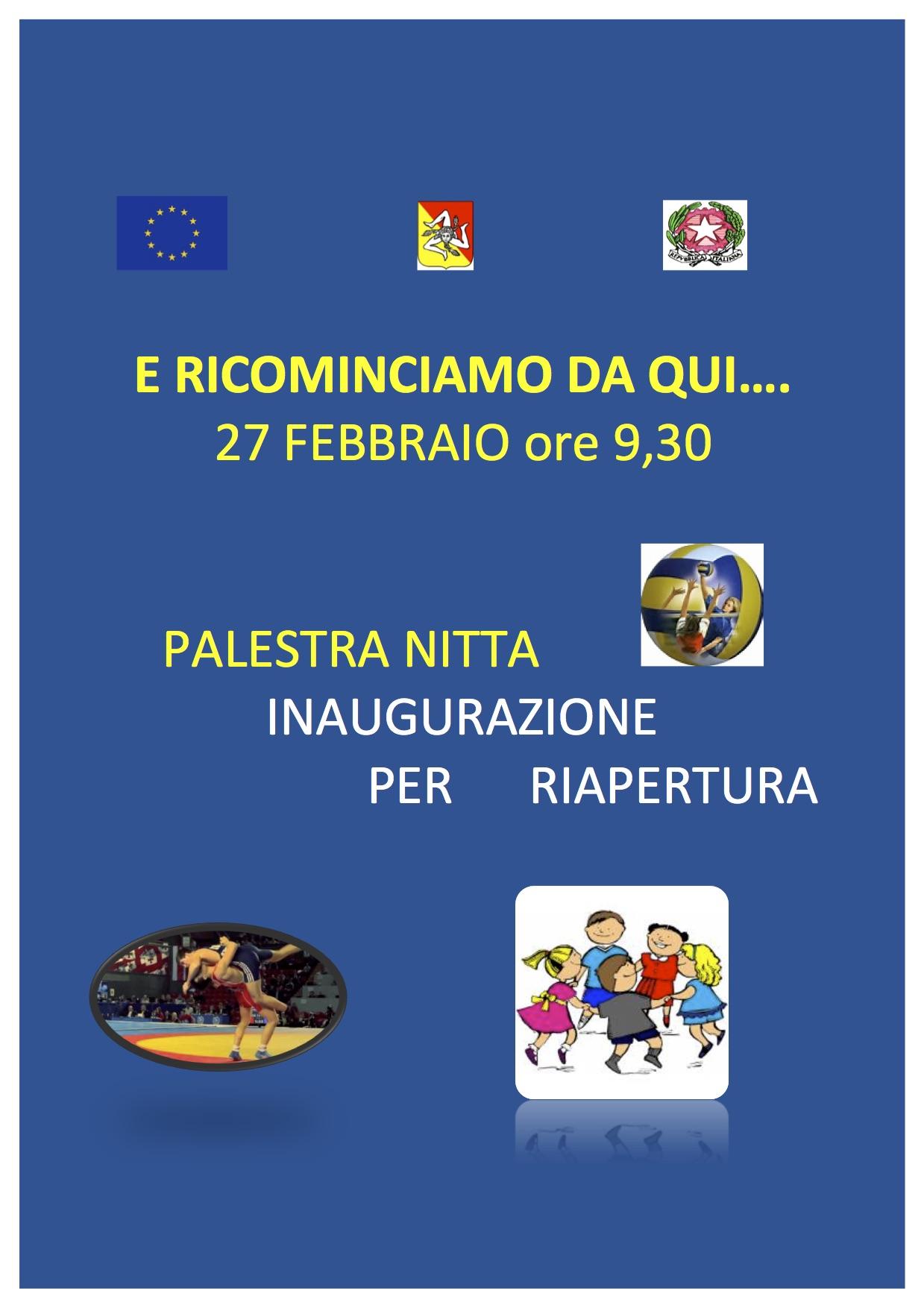 Locandina inaugurazione Palestra Viale Nitta 27-02-2017