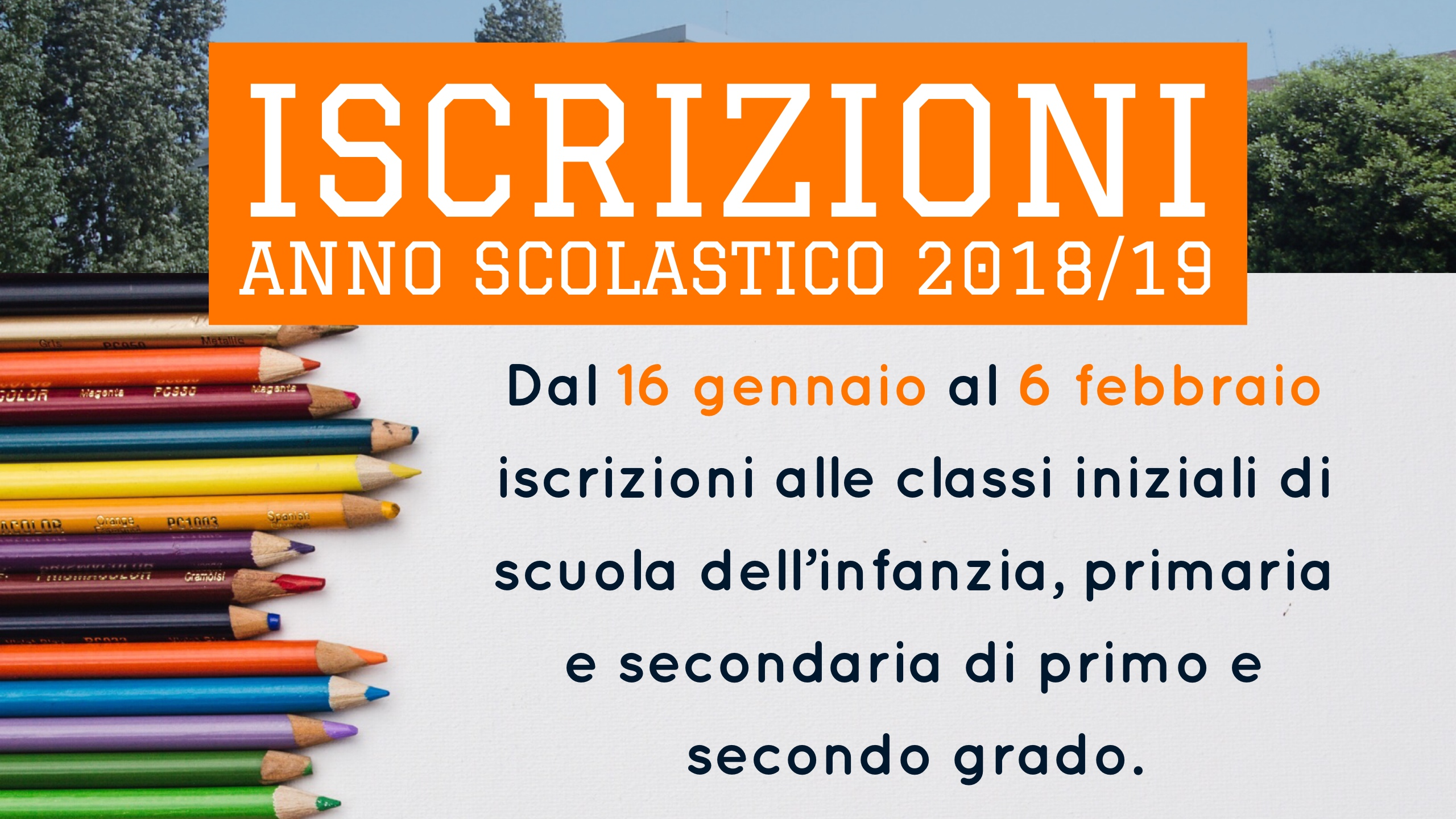 Banner Iscrizioni 2018-19